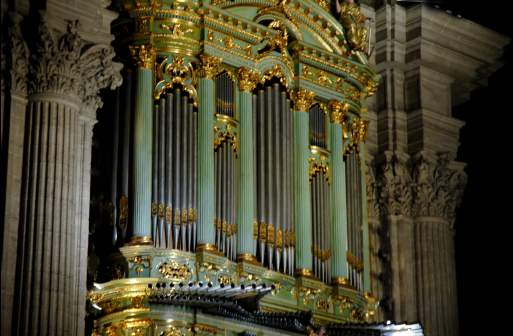 one of the 2 historical cathedral organs, built by master organbuilder Julian de la Orden